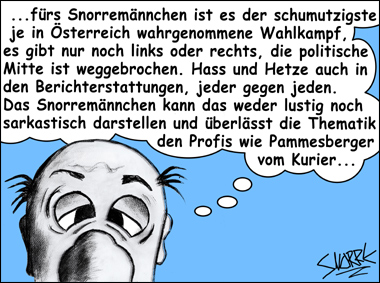 Cartoon by Snorre © Erhard Gaube - www.gaube.at